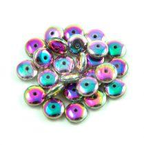 Lentil - Czech Glass bead - Alabaster Full Vitrail - 6mm