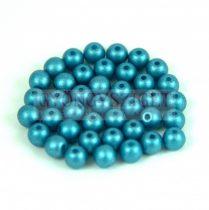Préselt golyó gyöngy- Metallic Polichrome Turquoise - 4mm