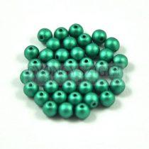Cseh préselt golyó gyöngy - Polichrome Metallic Green - 3mm