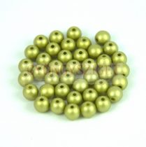 Préselt golyó gyöngy- Metallic Polichrome Olive - 4mm