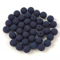 Cseh préselt gyöngy -  Silk Satin Dark Blue - 4mm