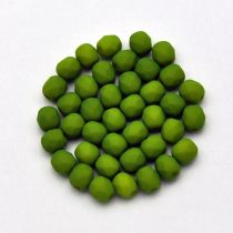 Cseh csiszolt golyó gyöngy - matte  silk satin green pea-4mm