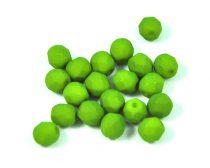 Cseh csiszolt golyó gyöngy -  silk satin green pea-6mm