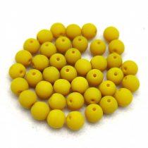 Cseh préselt gyöngy -  Silk Satin Olive - 4mm
