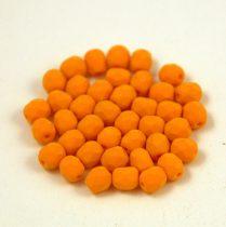 Cseh csiszolt golyó gyöngy -  matte silk satin tangerine-4mm