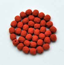 Cseh csiszolt golyó gyöngy -  matte silk satin terracotta-4mm