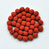 Cseh csiszolt golyó gyöngy -  Matte Silk Satin Terracotta - 4mm