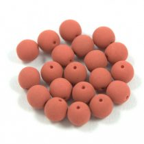 Préselt golyó gyöngy- silk satin terracotta -6mm