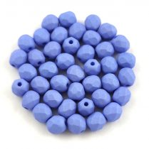 Czech Firepolished Round Glass Bead - silk satin terracotta-4mm