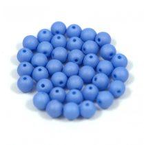 Cseh préselt gyöngy -  silk satin blue-4mm