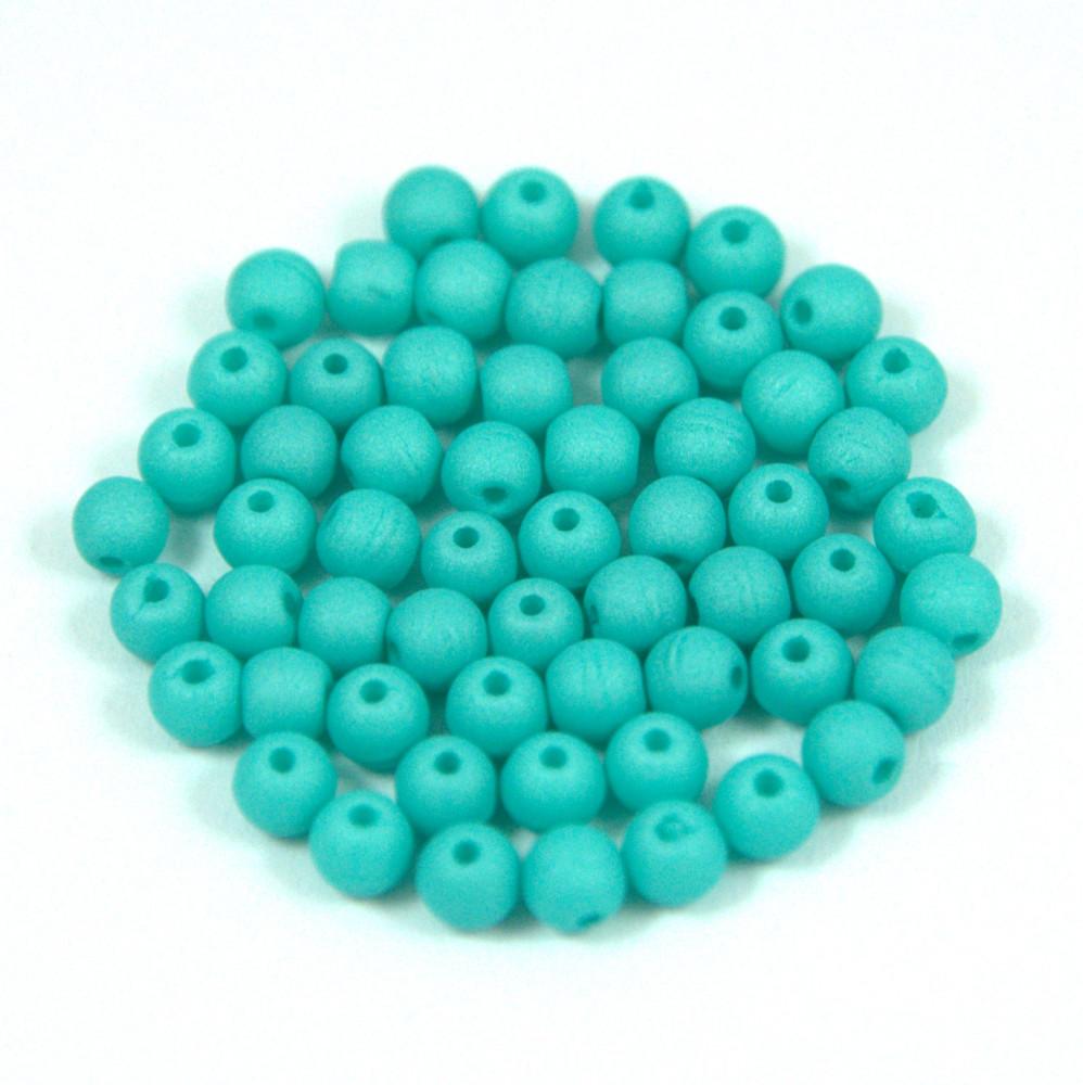 Cseh préselt gyöngy - silk satin turquoise green-3mm Préselt golyó ... 3468f00c54