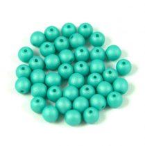 Cseh préselt gyöngy -  silk satin turquoise green-4mm