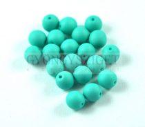 Cseh préselt gyöngy - silk satin turquoise green - 8mm