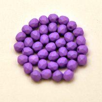 Cseh csiszolt golyó gyöngy -  silk satin lila-4mm