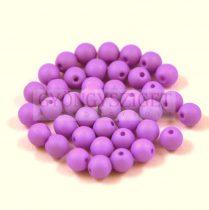 Cseh préselt gyöngy -  silk satin purple - 4mm