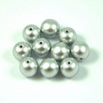 Cseh préselt gyöngy - silver metallic satin - 8mm
