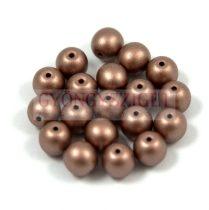 Cseh préselt golyó gyöngy - chocolate bronze metallic satin -4mm