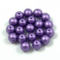 Cseh préselt golyó gyöngy - lavender metallic satin -6mm