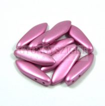 Lándzsa (szirom) cseh préselt üveggyöngy két lyukkal - fuchsia metallic satin -5x16mm