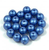 Cseh préselt golyó gyöngy - blue metallic satin -6mm