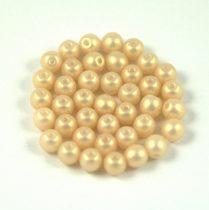 Cseh préselt golyó gyöngy - Cream Gold Satin - 4mm