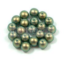 Cseh préselt golyó gyöngy - dark green golden shine -4mm
