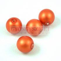 Cseh préselt golyó - Matte Pearl Orange - 10mm