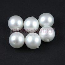 Cseh préselt gyöngy -  Matte Pearl Cream White - 4mm