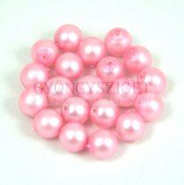 Cseh préselt gyöngy -  Matte Pearl Powder Pink - 6mm