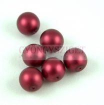 Cseh préselt golyó - Matte Pearl Bordeaux - 10mm
