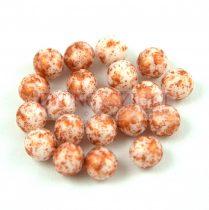 Cseh préselt golyó - Alabaster Copper Patina - 4mm