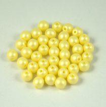 Cseh préselt gyöngy -  luminous pastel yellow - 4mm