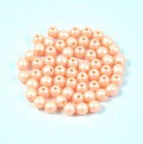 Cseh préselt gyöngy -  luminous pastel peach - 3mm
