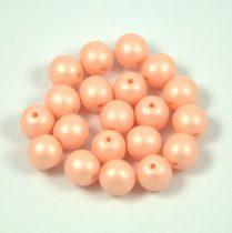 Cseh préselt gyöngy -  luminous pastel peach - 6mm