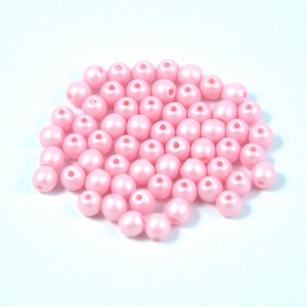 Cseh préselt gyöngy - luminous pastel pink - 3mm Préselt golyó ... 25df9e3e84