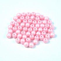 Cseh préselt gyöngy -  luminous pastel pink - 3mm - 300db