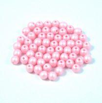 Cseh préselt gyöngy -  luminous pastel pink - 3mm