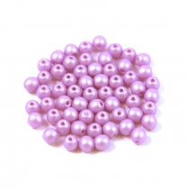 Cseh préselt gyöngy -  luminous pastel purple - 3mm