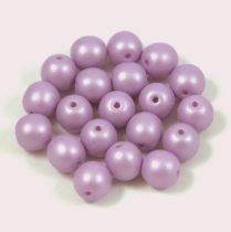 Cseh préselt golyó gyöngy - luminous pastel purple - 6mm - 100db