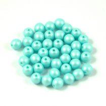 Cseh préselt gyöngy -  luminous pastel light blue - 4mm