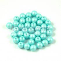 Cseh préselt golyó gyöngy - luminous pastel light blue - 6mm - 100db