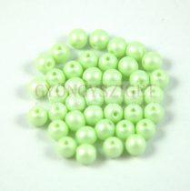 Cseh préselt golyó gyöngy - luminous pastel light green - 6mm - 100db