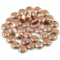 Cseh szélén fúrt préselt lencse gyöngy -  rose gold -6mm
