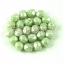 Cseh csiszolt golyó gyöngy -  White Green Luster - 5mm
