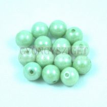 Cseh préselt golyó gyöngy – White Green Marble -6mm