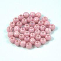 Cseh préselt golyó gyöngy - White Pink Luster - 4mm