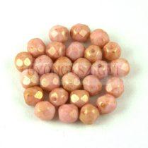 Cseh csiszolt golyó gyöngy - White Rose Bronze Luster - 5mm