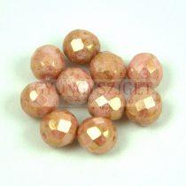 Cseh csiszolt golyó gyöngy - White Rose Bronze Luster - 8mm
