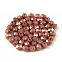 Cseh csiszolt golyó gyöngy - saturated metallic grenadine - 3mm