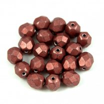 Cseh csiszolt golyó gyöngy - saturated metallic grenadine - 6mm